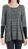 Max Studio Space Dyed Long Sleeved Top