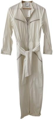 LES COYOTES DE PARIS White Cotton Jumpsuit for Women