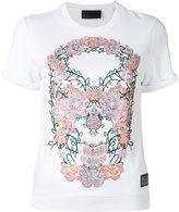 Philipp Plein floral skull T-shirt - women - Cotton/Modal - S