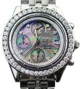 Breitling Chronomat 8 ct Diamonds Black Mop Diamond Dial Watch