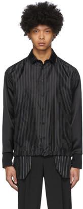 Neil Barrett Black Striped Shirt Jacket