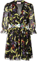 Giamba multiple print sheer dress