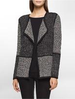 Calvin Klein Textured Blocked Flyaway Sweater