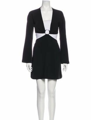 Cinq à Sept V-Neck Mini Dress w/ Tags Black