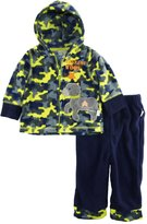 Duck Duck Goose Duck Goose Baby Boys Camo Sergeant Woof Micro Polar Fleece Jacket 2Pc Pant Set