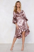 Nasty Gal Womens Wearing And Tiering Satin Dress - Pink - 6, Pink