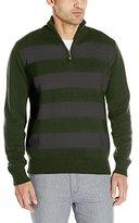 U.S. Polo Assn. Men's L/s 1/4 Zip Striped Cotton Sweater
