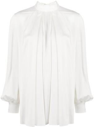 Alexander McQueen Pleated Silk Blouse