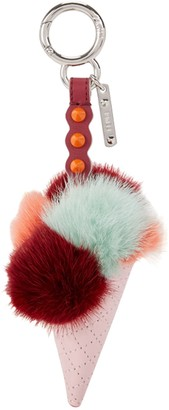 Fendi Pink Fox Bag charms