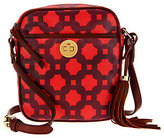Isaac Mizrahi Live! Bridgehampton Printed Canvas Crossbody Bag
