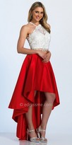 Dave and Johnny Two Piece High-low Rhinestone Embellished Prom Dress