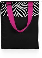 Picnic Time 'Vista' Outdoor Blanket Tote - Black with Zebra Print