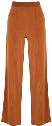 By Malene Birger Miela Rust Wide-leg Jersey Trousers