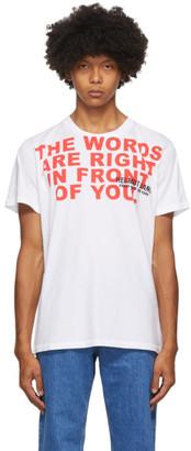 Helmut Lang White Willie Norris Edition Standard T-Shirt