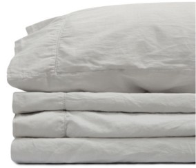 Jennifer Adams Home Jennifer Adams Relaxed Cotton Sateen Twin Sheet Set Bedding