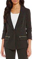 Jones New York Pinstripe Boyfriend Jacket
