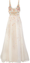 Jenny Packham Embroidered Tulle Gown - Cream