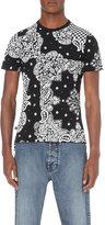 Anglomania Bandana Print Cotton-jersey T-shirt