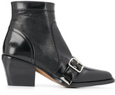 Chloé buckle detail panelled boots