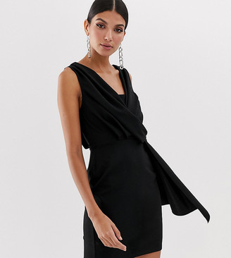 Asos Tall ASOS DESIGN Tall mini drape front dress
