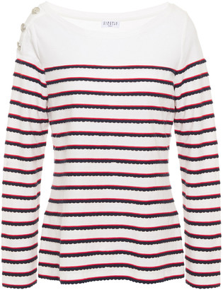 Claudie Pierlot Striped Cotton-jersey Top