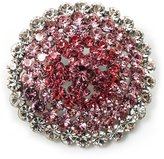 Avalaya Pink Crystal Corsage Brooch (Silver Tone)
