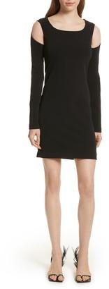 Helmut Lang Cold Shoulder Sheath Dress
