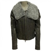 Haider Ackermann Anthracite Leather Jacket for Women