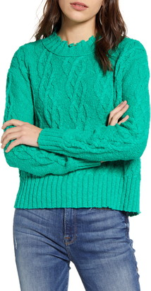 Treasure & Bond Cable Cotton Blend Sweater