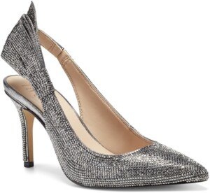 INC International Concepts Inc Women's Cersei Slingback Bling-Bow Heels, Created for Macy's Women's Shoes