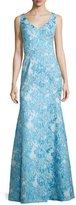 Theia Sleeveless Brocade Mermaid Gown