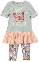 Coral 'Forever' Dress & Leggings - Girls