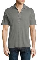 Orlebar Brown Branigan Tailored-Fit Garment-Dyed Linen Polo Shirt, Fossil