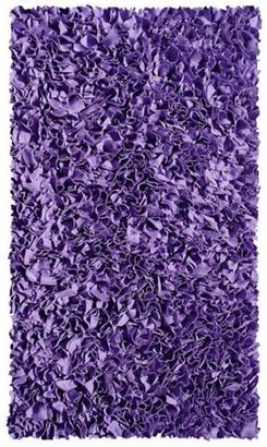 "R16 Home Shaggy Raggy Area Rug, Purple, 2'8""x4'8"""