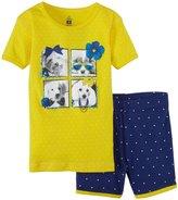 Petit Lem A Purses Best Friend PJ Set (Toddler/Kid) - Yellow-3
