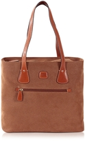Bric's Life Camel Micro Suede Tote Bag