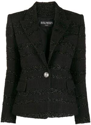 Balmain Slim-Fit Boucle Tweed Jacket
