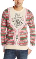 Alex Stevens Men's Hairy Chest Cardigan Ugly Christmas Sweater