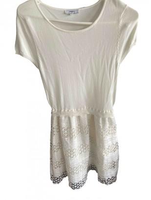 Suncoo Ecru Cotton Dress for Women