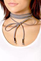 Boohoo Charlotte Tie Cord Choker