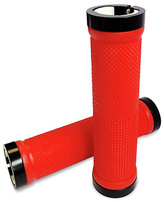 Zinc Interchangeable Scooter Handlebar Pro Grips - Red
