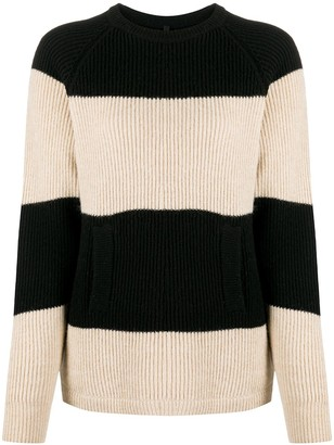 Sara Lanzi Two-Tone Striped Jumper