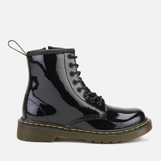 Dr. Martens Kids' 1460 J Patent Limper Lace Up Boots - Black