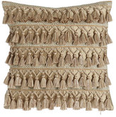 "Dian Austin Couture Home Gwenneth Tassel-Front Pillow, 16""Sq."