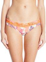Maaji Women's Tangerine Muses Lotta Dada Hipster Cut Reversible Bikini Bottom