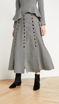 A.W.A.K.E. Mode Gingham Multi Panel Skirt