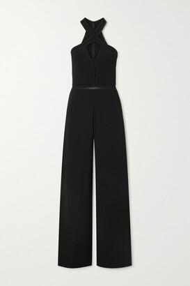 Stella McCartney - + Net Sustain Cutout Knitted Halterneck Jumpsuit - Black