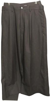 Junya Watanabe Navy Cashmere Skirt for Women