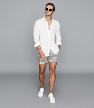 Reiss Otis - Tailored Check Shorts in Multi