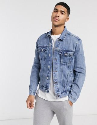 New Look denim jacket in mid blue wash